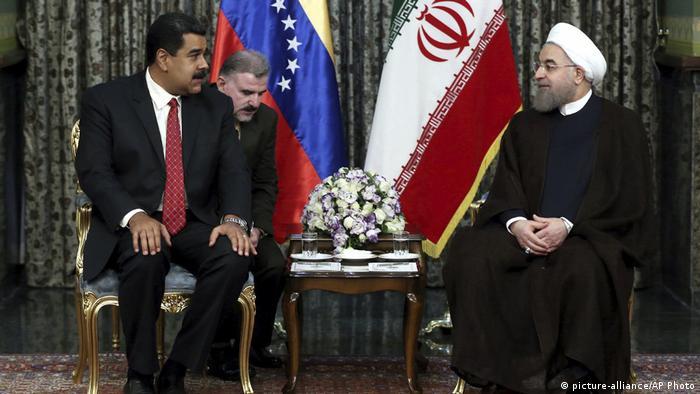 دیدار نیکلاس مادورو و حسن روحانی، یکی از دیدارهای مقامات ارشد ایران و ونزوئلا ظرف سالهای گذشته