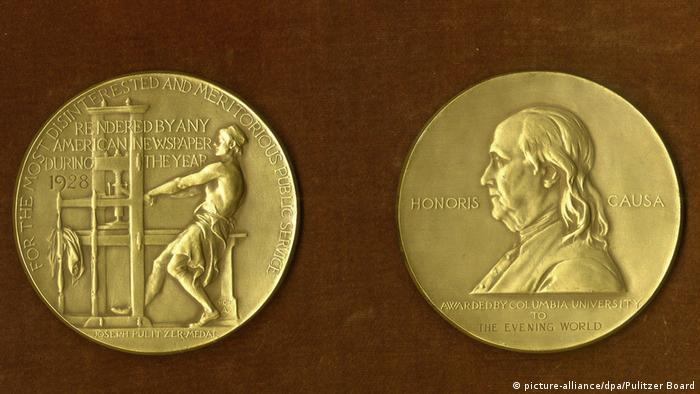 USA Pulitzer Preis Medaille (picture-alliance/dpa/Pulitzer Board)