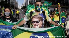Brasilien Sao Paulo | Coronavirus | Anhänger von Jair Bolsonaro