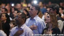 Brasilien Rio de Janeiro | Gottesdienst | Präsident Jair Bolsonaro