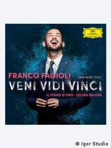 CD Cover des argentinischen Sänger Franco Fagioli Veni Vidi Vinci