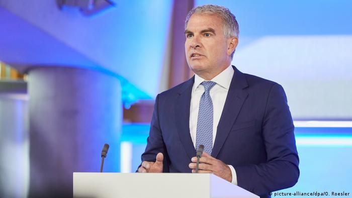 Lufthansachef Carsten Spohr auf der Hauptversammlung von Lufthansa