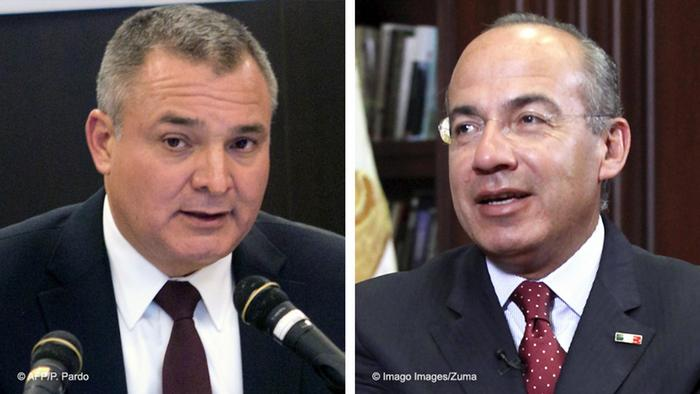 Felipe Calderón (der), ex presidente de México y Genaro García Luna (izq.), ex secretario de Seguridad Pública de México.