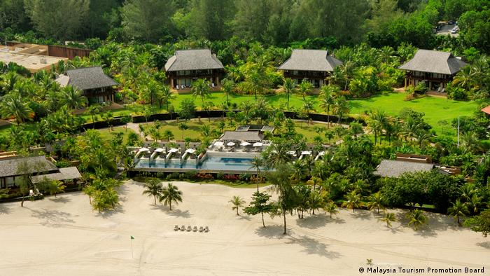 Hotels on the popular holiday island of Langkawi are also waiting for an end to the crisis