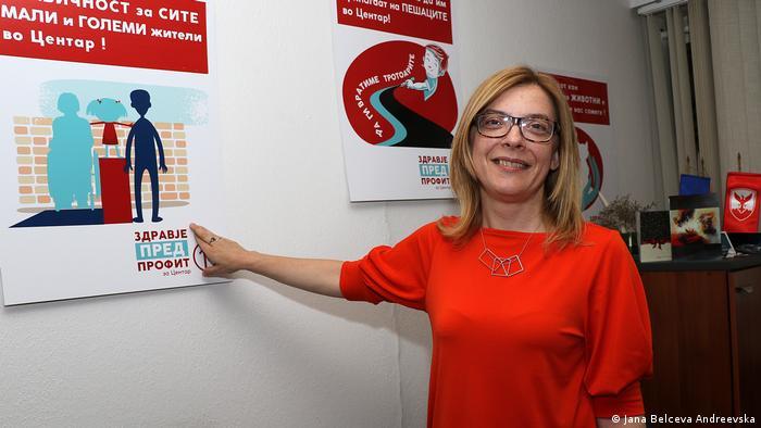 Nord-Mazedonien Jana Belceva Andreevska, Lokalpolitikerin aus Skopje