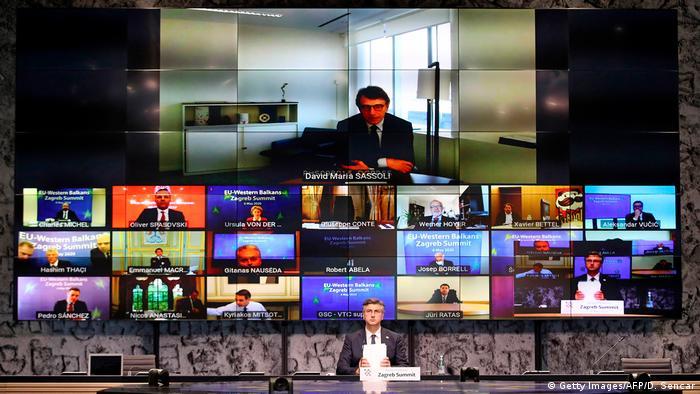 Kroatien Zagreb |Video-Gipfel EU & Westbalkan-Länder | Andrej Plenkovic, Premierminister