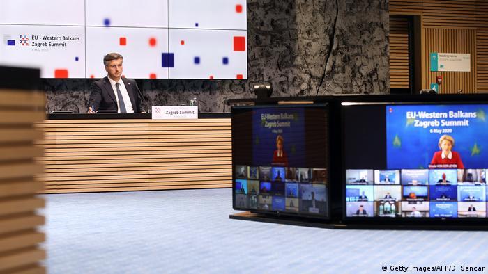 Kroatien Zagreb  Video-Gipfel EU & Westbalkan-Länder   Andrej Plenkovic, Premierminister