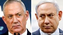 Kombobild   Benny Gantz und Benjamin Netanyahu