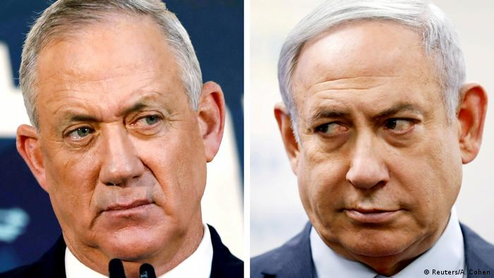 Benny Gantz (izqda). y Benjamín Netanyahu (dcha). formaron gobirno de unidad en Israel.
