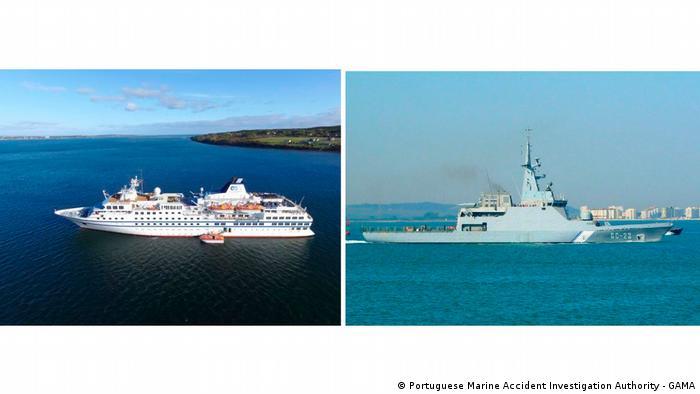 Las naves involucradas en el incidente: RCGS Resolute (izq) y Naiguatá. El incidente cerca de Curazao fue el corolario de una accidentada travesía.