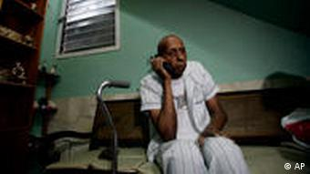 Farinas on the phone during his hunger strike