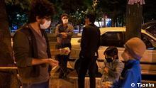 Erdbeben im Iran Menschen auf den Straßen