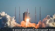 China Peking | Raketenstart: China schickt Prototyp ins All