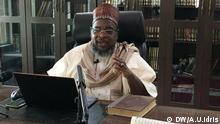 Huseyn Zakaria, a Muslim cleric using social media platforms during Ramdhan because of lockdown in Nigeria Taken by: DW correspondent in Abuja Uwaisu Idris When: Picture taken during the month of Ramdhan 2020
