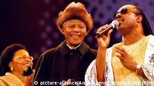 Nelson Mandela und Stevie Wonder