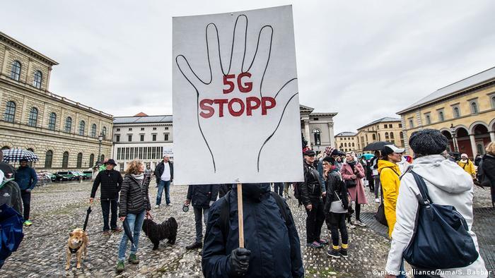 Протести в Мюнхен срещу 5G мрежата