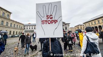 Διαδήλωση στο Μόναχο κατά του δικτύου 5G