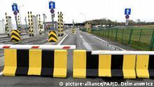 Geschlossene Grenze Polen Ukraine bei Medyka