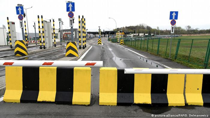 Barriers along the Polish-Ukrainian border