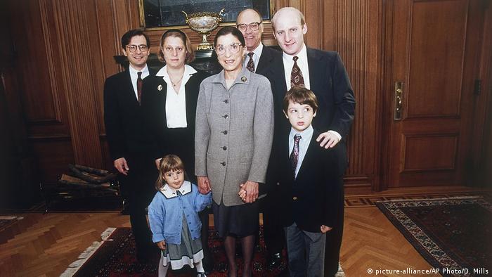 Ruth Bader Ginsburg and family 1993