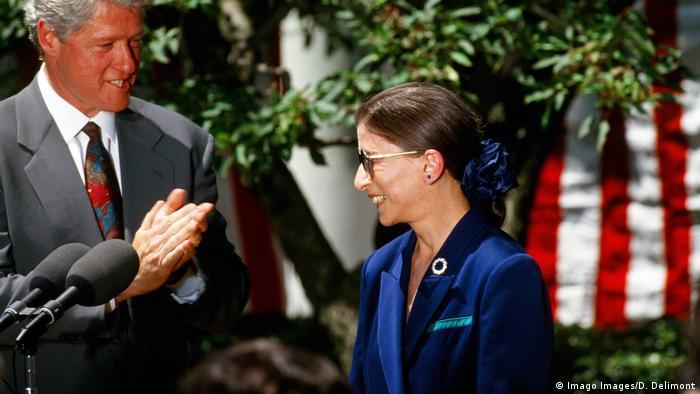Ruth Bader Ginsburg and Bill Clinton 1993
