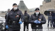 Russland Moskau Polizei Roter Platz