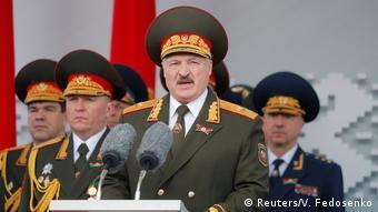 Александр Лукашенко на Параде победы в Минске, 9 мая