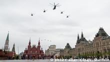 Russland Moskau Militär Flug Show Tag der Befreiung Zweiter Weltkrieg