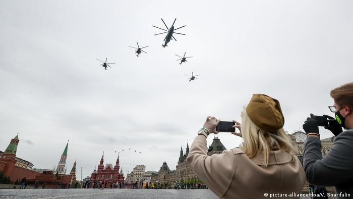 Воздушный парад на Красной площади по случаю 75-летия победы