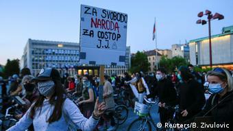 Протест в Любляне против ограничительных мер, 8 мая