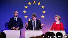 Belgien Pressekonferenz EU Parlament zum Brexit