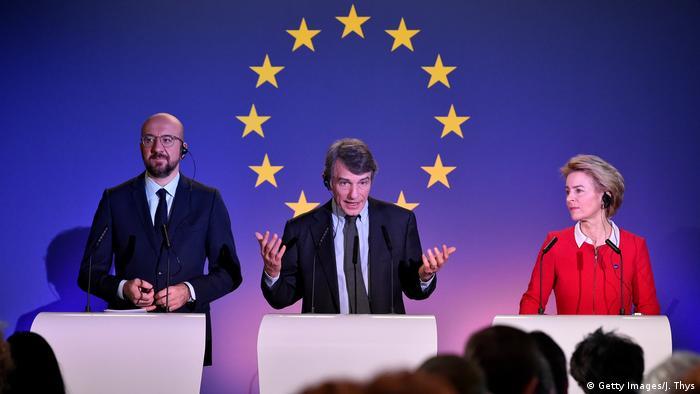 Belgien Pressekonferenz EU Parlament zum Brexit (Getty Images/J. Thys)