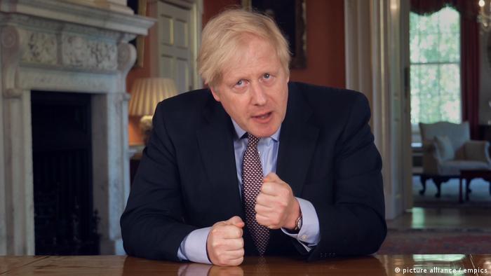Großbritannien TV Ansprache Boris Johnson Lockerungen Coronamaßnahmen (picture alliance / empics)