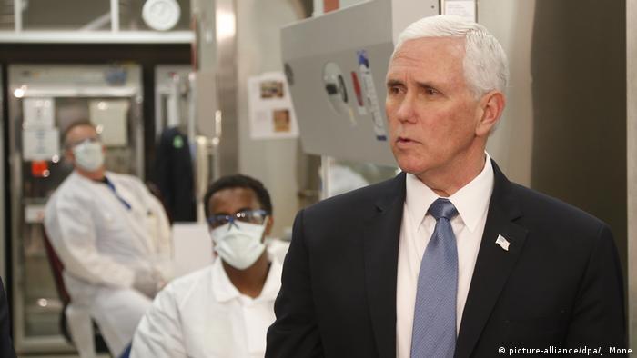 USA Coronavirus Mike Pence (picture-alliance/dpa/J. Mone)