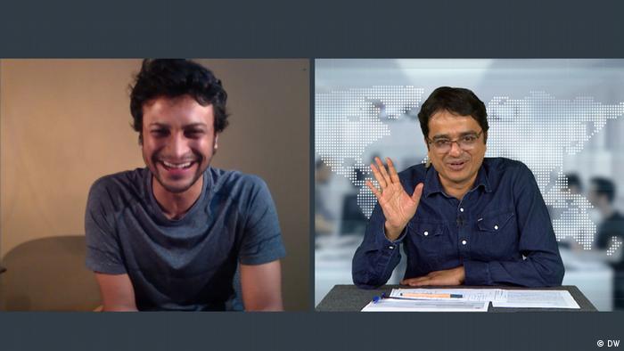 Bangladesch DW Interview Khaled Muhiuddin und Shakib Al Hasan (DW)