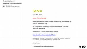 Screenshot Phishing E-Mail