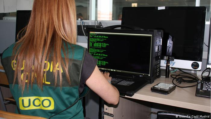 Spanien Madrid Computerkriminalität während der Corona-Krise