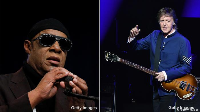 Stevie Wonder and Paul McCartney (Getty Images)