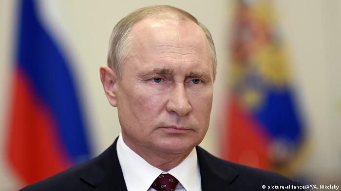 Russland - Putin wendet sich an Nation (picture-alliance/AP/A. Nikolsky)