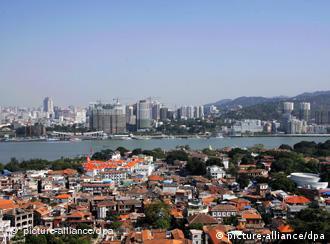Xiamen in Fujian province in southeast China has strong links with Taiwan
