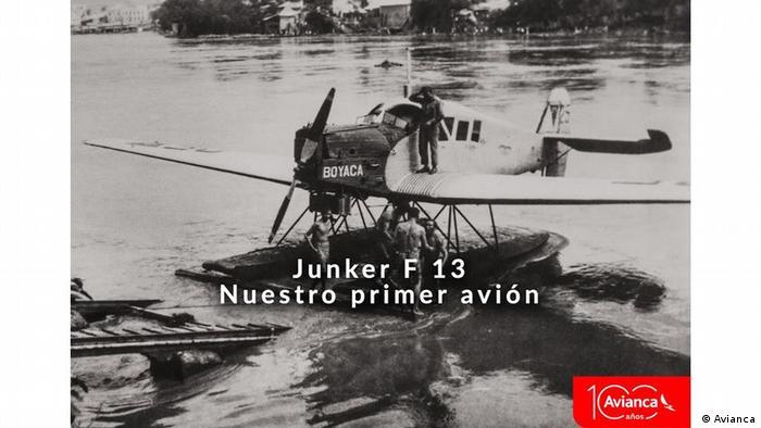 Este Junker F 13 es una de las primeras aeronaves de Avianca que en sus inicios fué una sociedad cololombo-alemana.