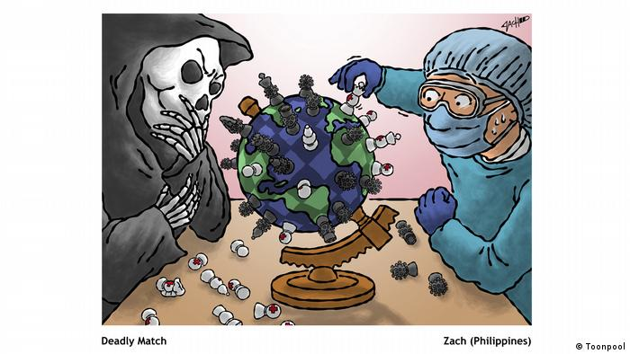 Cartoon mit dem Titel 'Deadly Match' (von Zach aus den Philippinen)