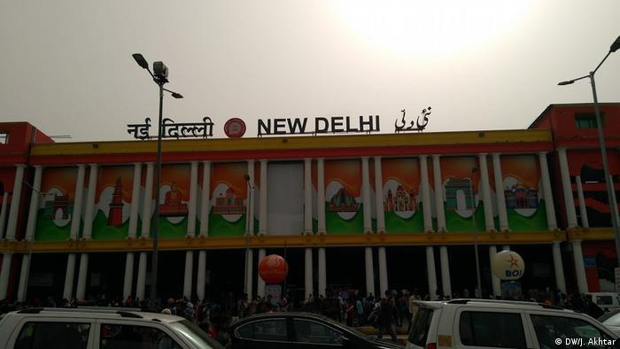 Estación ferroviaria central de Nueva Delhi, India.