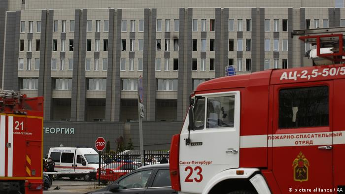 Firefighters are dispatched to hospital after a fire broke out at a St Petersburg hospital