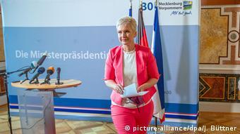 Премьер-министр федеральной земли Мекленбург – Передняя Померания Мануэла Швезиг