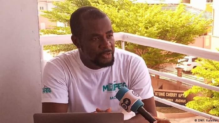 Moses Gbeka from Afrika Mofeg Travel and Tour (DW/I. Kaledzi)
