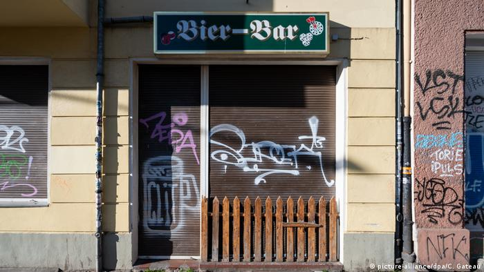 A bar in Leipzig, Germany. Just closed or closed permanently