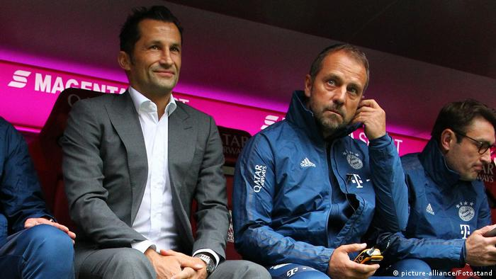 Bayern Munich's Hasan Salihamidzic and Hansi Flick