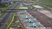 Flugzeuge am Boden in Schiphol