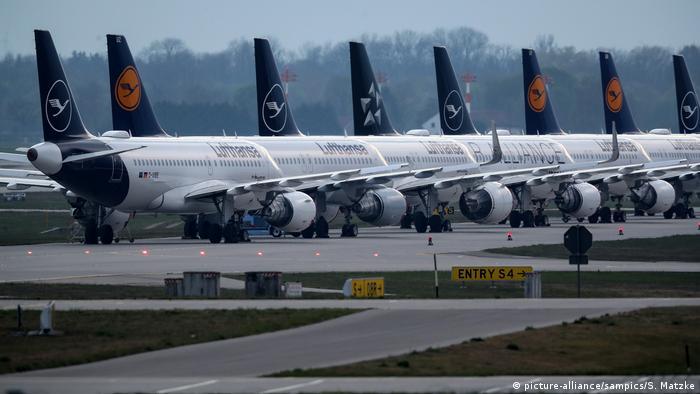 Schwere Zeiten für die Luftfahrtbranche während der Coronakrise ... (picture-alliance/sampics/S. Matzke)